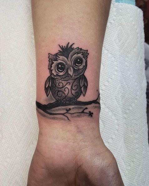 Little Owl Wrist Tattoos For Guys Tattoos For Guys Body Art Tattoos