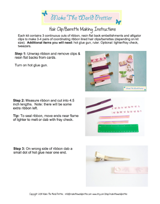 Sew Can Do: Easy Crafting: Hair Clip Making Kits by Make The World Prettier