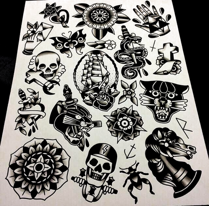 Black Old School Tattoo Designs Traditional Tattoo Art Traditional Tattoo Inspiration