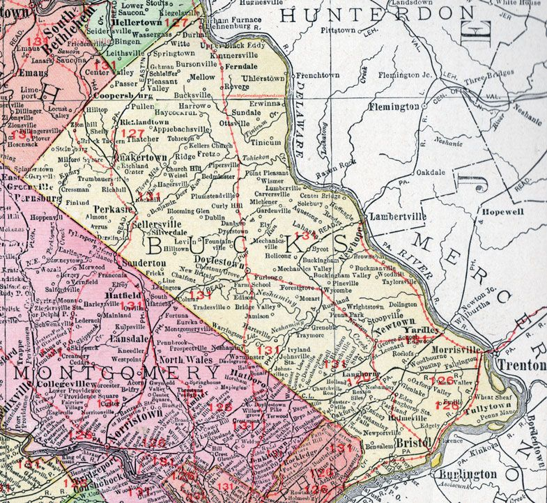 Bucks County, Pennsylvania, 1911, Map, Doylestown, Bristol ... on bucks montgomery map, buckingham map, pennsylvania map, monroe county, mercer county, levittown map, bucks pennsylvania, illinois community college district map, allegheny county, pa map, philadelphia map, northampton community college map, indiana county, worcester map, telford map, lehigh county, york county, cumberland county, montgomery county, chester county, berks county, bucks water map, lancaster county, bucks township map, new hope, bucks lake map, delaware county, quakertown map, central bucks school district map, new castle map, bucks co pa, philadelphia county, pennsylvania,