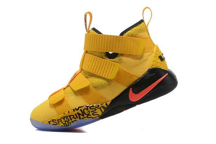 2017-2018 Newest And Cheapest Nike Zoom LeBron Soldier 11 XI CAVS PE  Metallic Gold