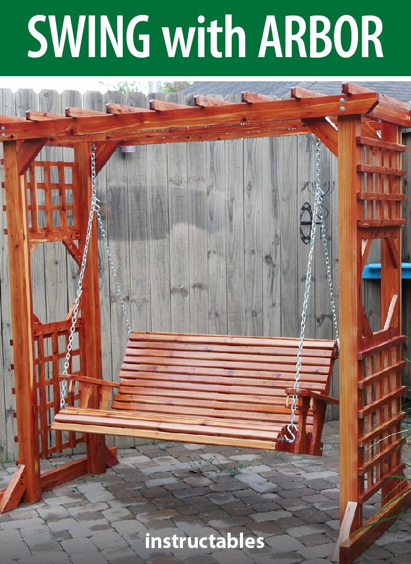 Diy swing with arbor build outdoor furniture diy swing
