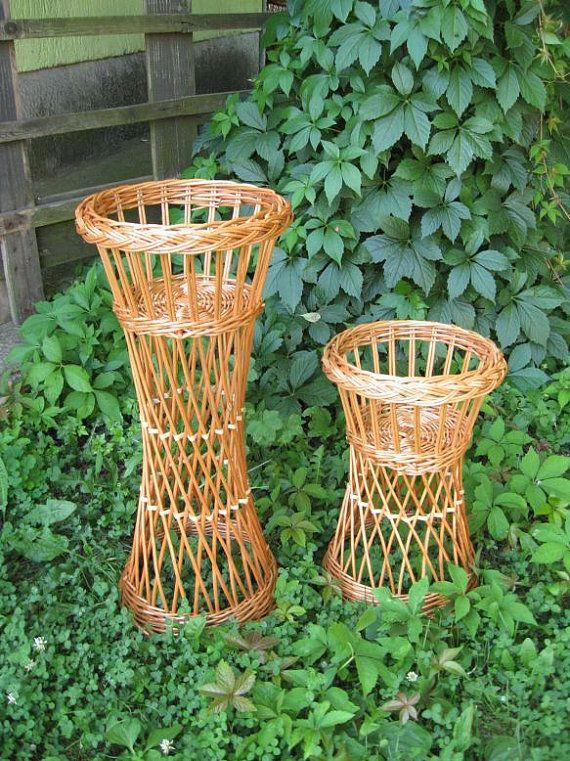Wicker Flower Pot Holder Wicker Flower Stand Willow Flower Planter Box Wicker Stand Wicker Plant Stand Bohemian Plant Stand Boho Decor Flower Pot Holder Wicker Decor Wicker