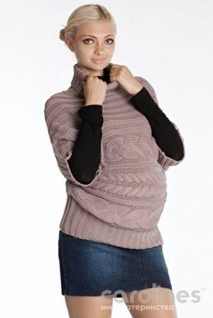 вязаная туника для беременной жилеты вязание одежда и будущая мама