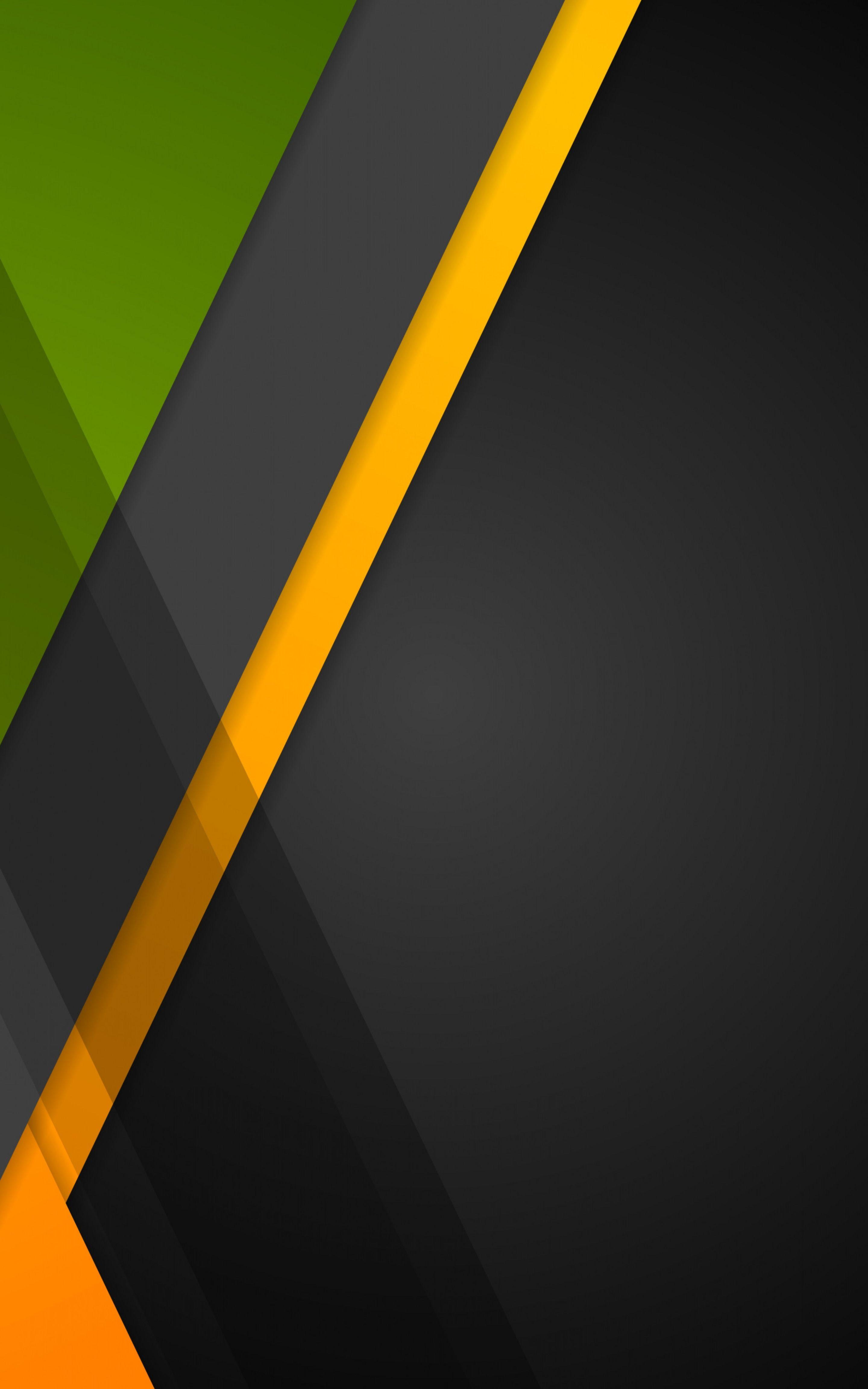 Green Black Orange Background Design Abstract Geometry Ultrahd 4k Hd Phone Wallpaper Geometric Desain Grafis