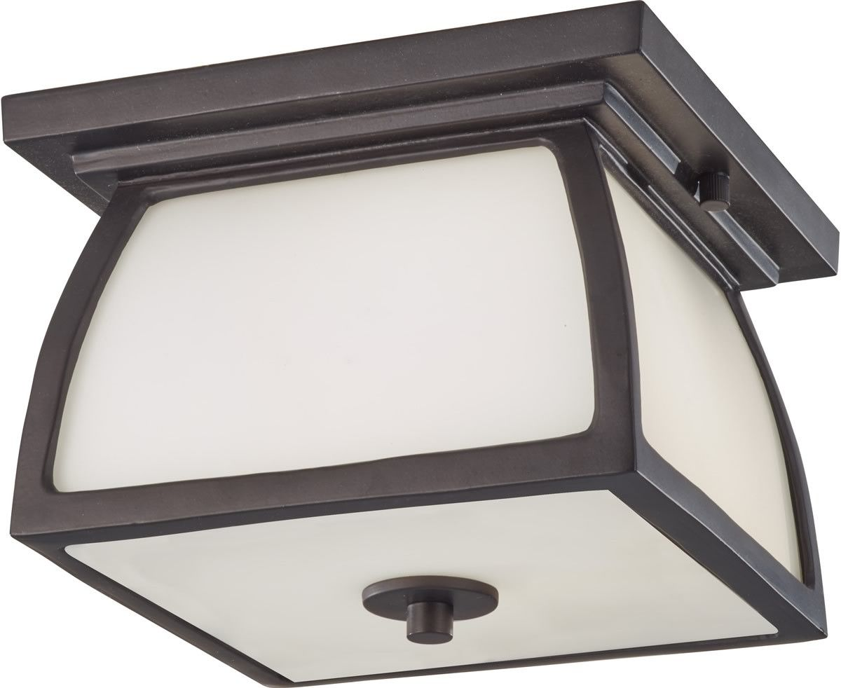 0-034796>Wright House 2-Light Outdoor Ceiling Light Oil Rubbed Bronze