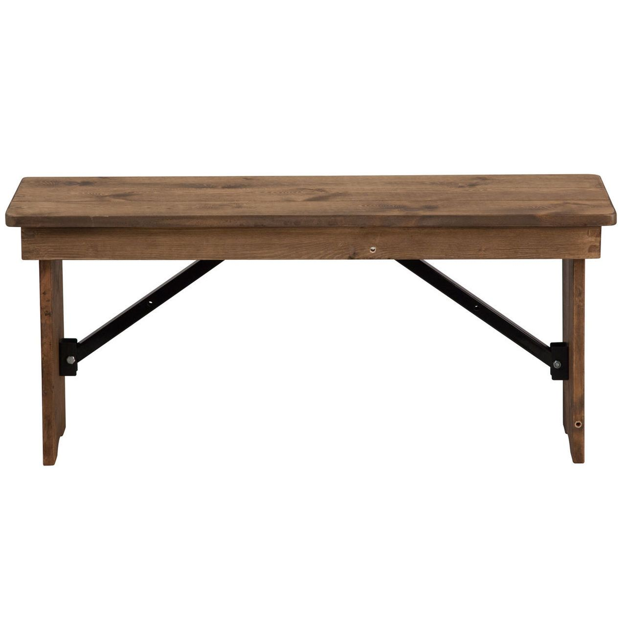 Advantage Antique Rustic Solid Pine Farmhouse Table Bench 12 In X 40 In Xa B 40x12 Gg In 2020 Farmhouse Table With Bench Folding Bench Solid Wood Dining Table