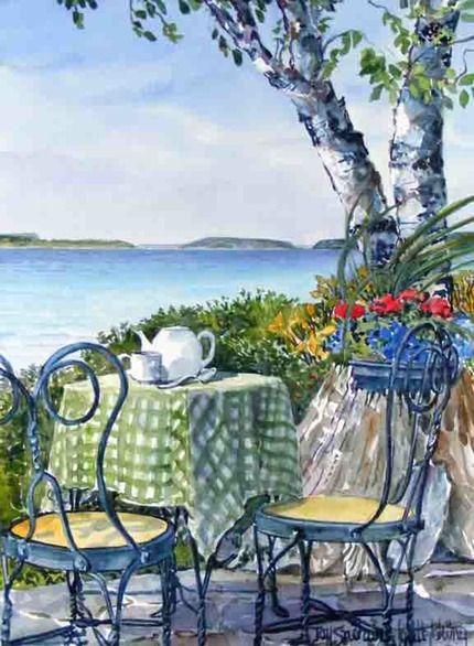 """""""Stump & Tea Time"""" by Joy Laking"""