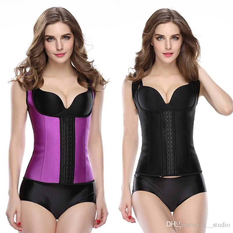 7a978a305b New Latex Rubber Corset Body Shaper Waist Trainer Corset Latex Corset Sport Latex  Waist Cincher Slimming Shoulder Strips Plus Size From Z  studio