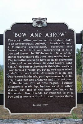 Marker 258 Bow And Arrow Historical Marker Markers Wisconsin