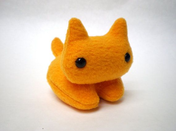 Orange Kitty Plush Kitty Cat Stuffed Toy by CheekyBeasts on Etsy, $14.00