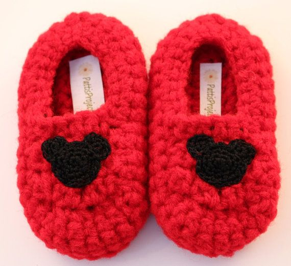 Infant Mickey Mouse inspired slippers