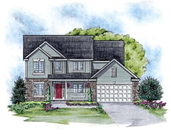 Traditional   House Plan 66651
