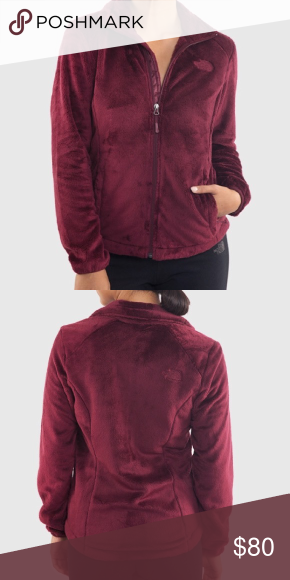 ❤️THE NORTH FACE OSITO 2 FUZZY JACKET IN BURGUNDY Super soft! Two side zip  pockets. Beautiful color.Sad to have it sitting in my closet so I m looking  to ... 6789d381f