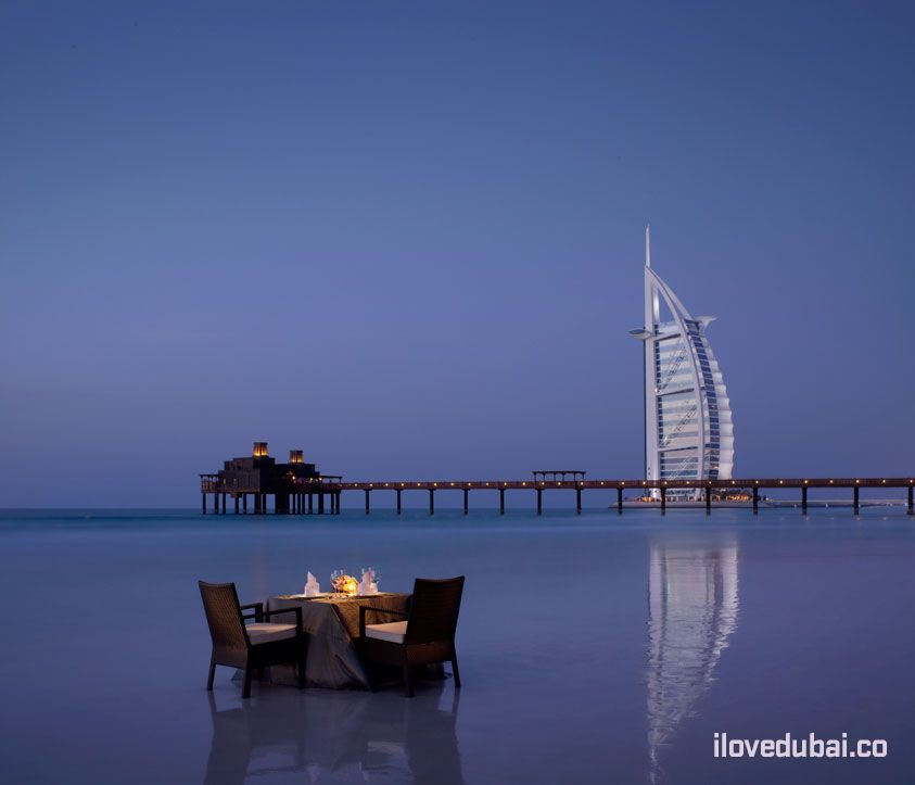 Romantic Beach Dining in Dubai
