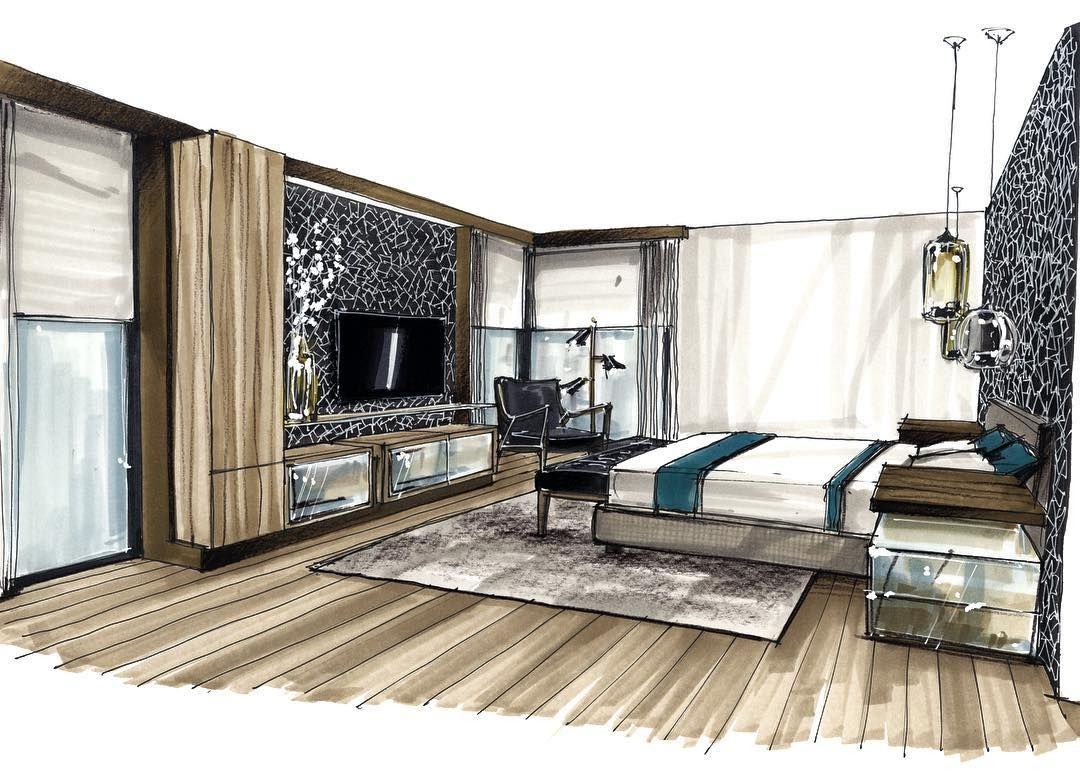 architecture design interior sketchinterior