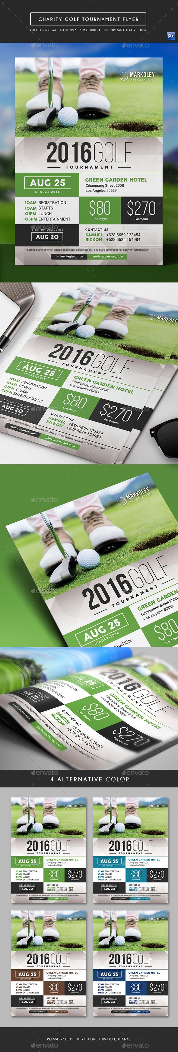 Charity Golf Tournament Flyer  Golf Event Flyers And Edit Text