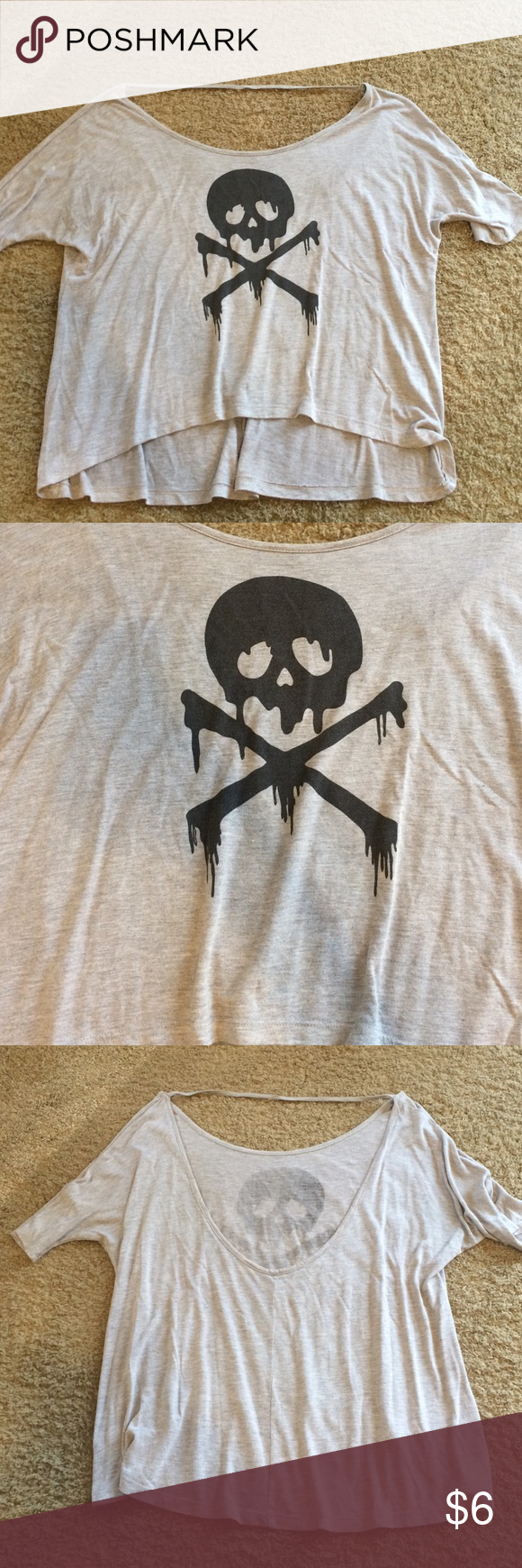 Foreign exchange skull tee Great condition and TTS! Tops Tees - Short Sleeve