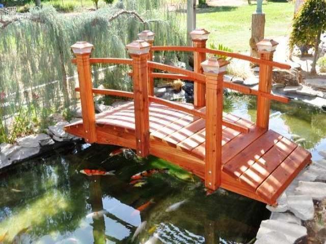 Small Decorative Garden Bridges: Garden Bridges « Redwood Garden Bridges