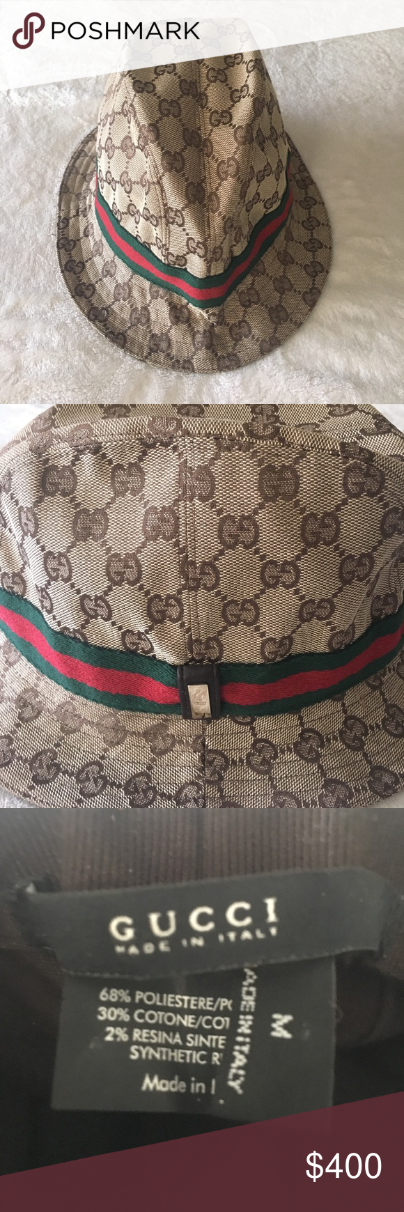 546baf940ee39 Gucci vintage fedora Authentic Vintage Gucci Hat. Impeccable  condition...worn once. This hat is amazing!!!!! Gucci Accessories Hats