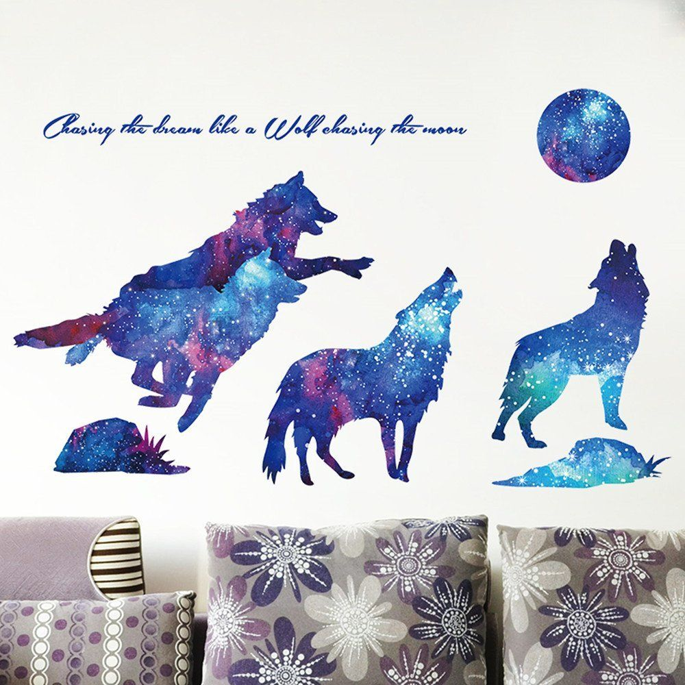 Blue moon teen wolf wall stickers d decor wall sticker