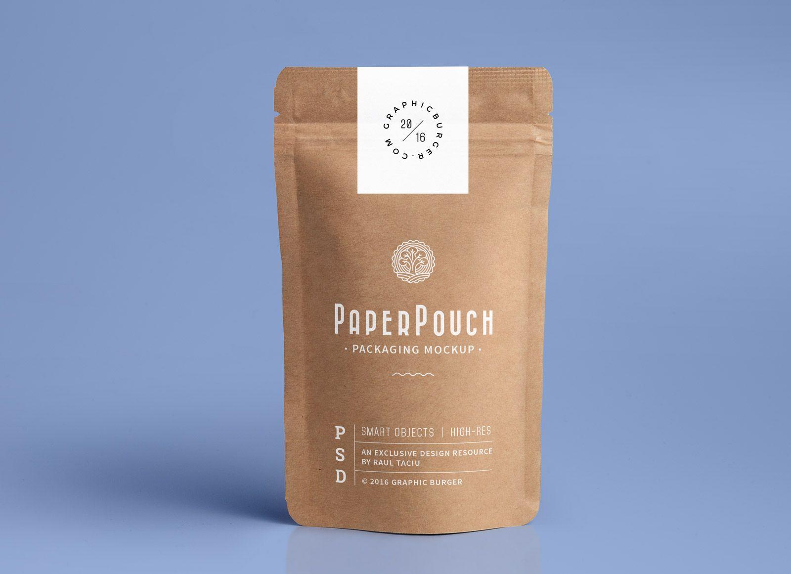 Download Free Coffee Paper Bag Packaging Mockup Psd Desain Kemasan Ide Kemasan Kemasan