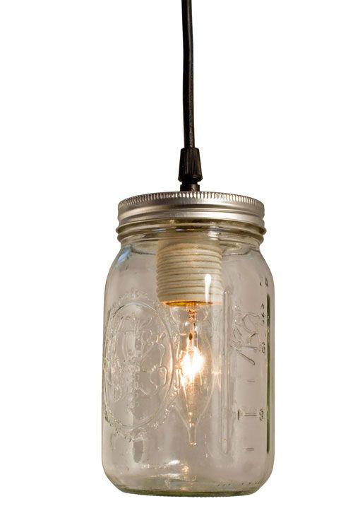 Bell jar pendant with standard black cord barnlightelectric barn vintage mason jar pendant from barn light electric aloadofball Choice Image