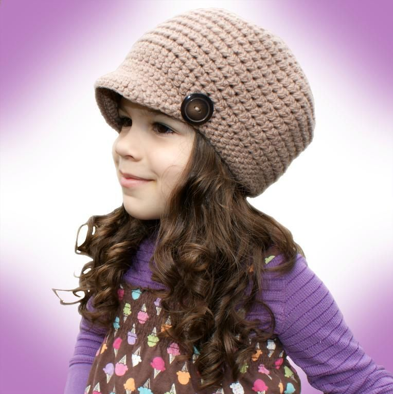 All Ages Newsboy Cap (crochet) | Pinterest | Häkeln