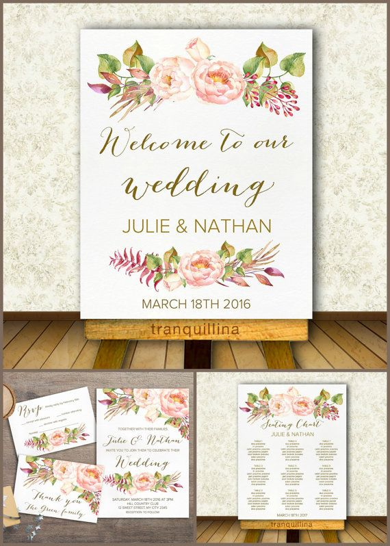 Calendar Ideas Reception : Printable welcome sign wedding custom