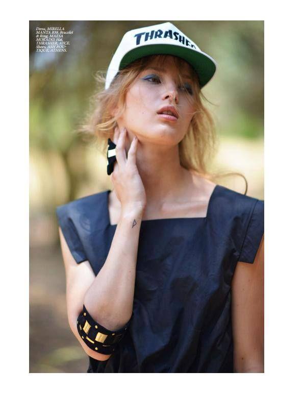 Summer #Melancholy #Elegant magazine, #AugustIssue Photographer : Peny Giannakou Fashion Editor : Nikos Zanas Model : Kamila (Dmodels) Hair and Make up : Vasia Politou Dress: #MirellaManta , #B38  Bracelet / Ring: Maesa Morado  Hat: Thrasher, AYCE