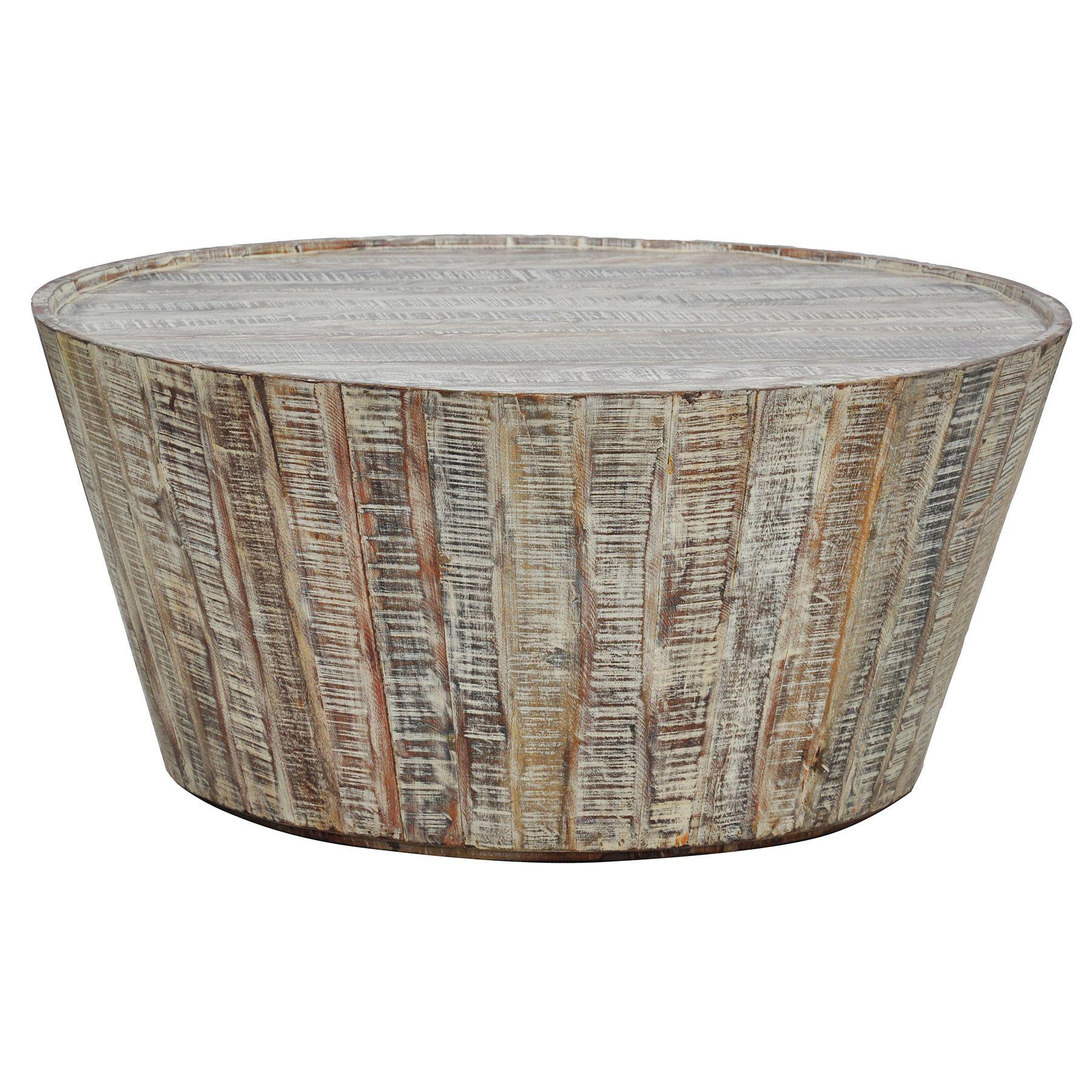 Lime Wash Coffee Table Kosas Home Hamshire Wooden Barrel Coffee Table By Kosas Home