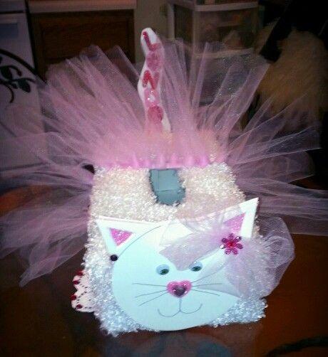 ballerina kitty valentines day box - Cat Valentine Box