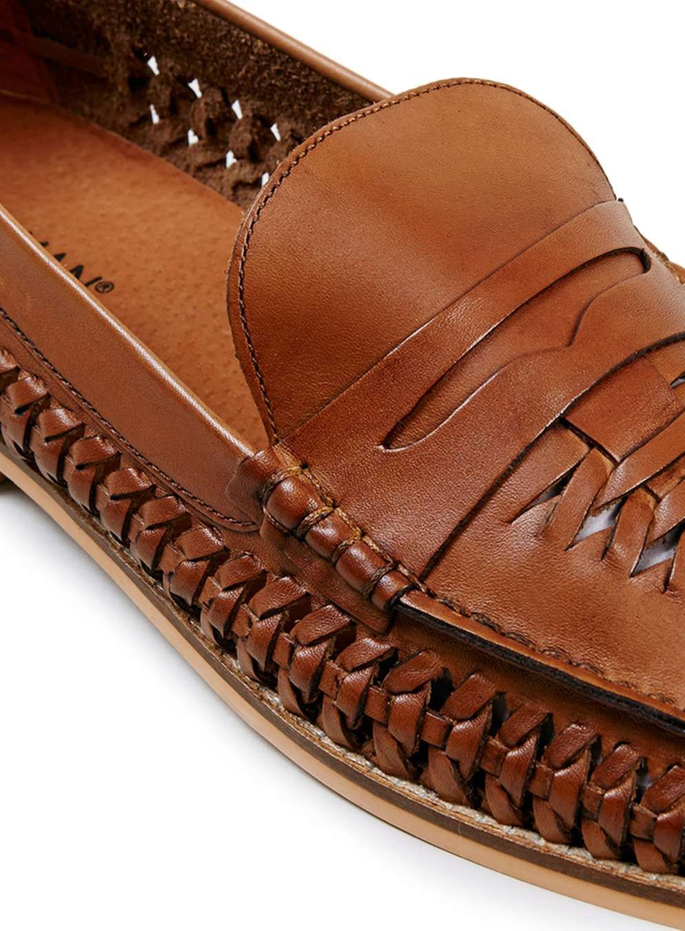 d933cd7dea55cc Marne Loafer Tan Leather Woven Loafers - Topman