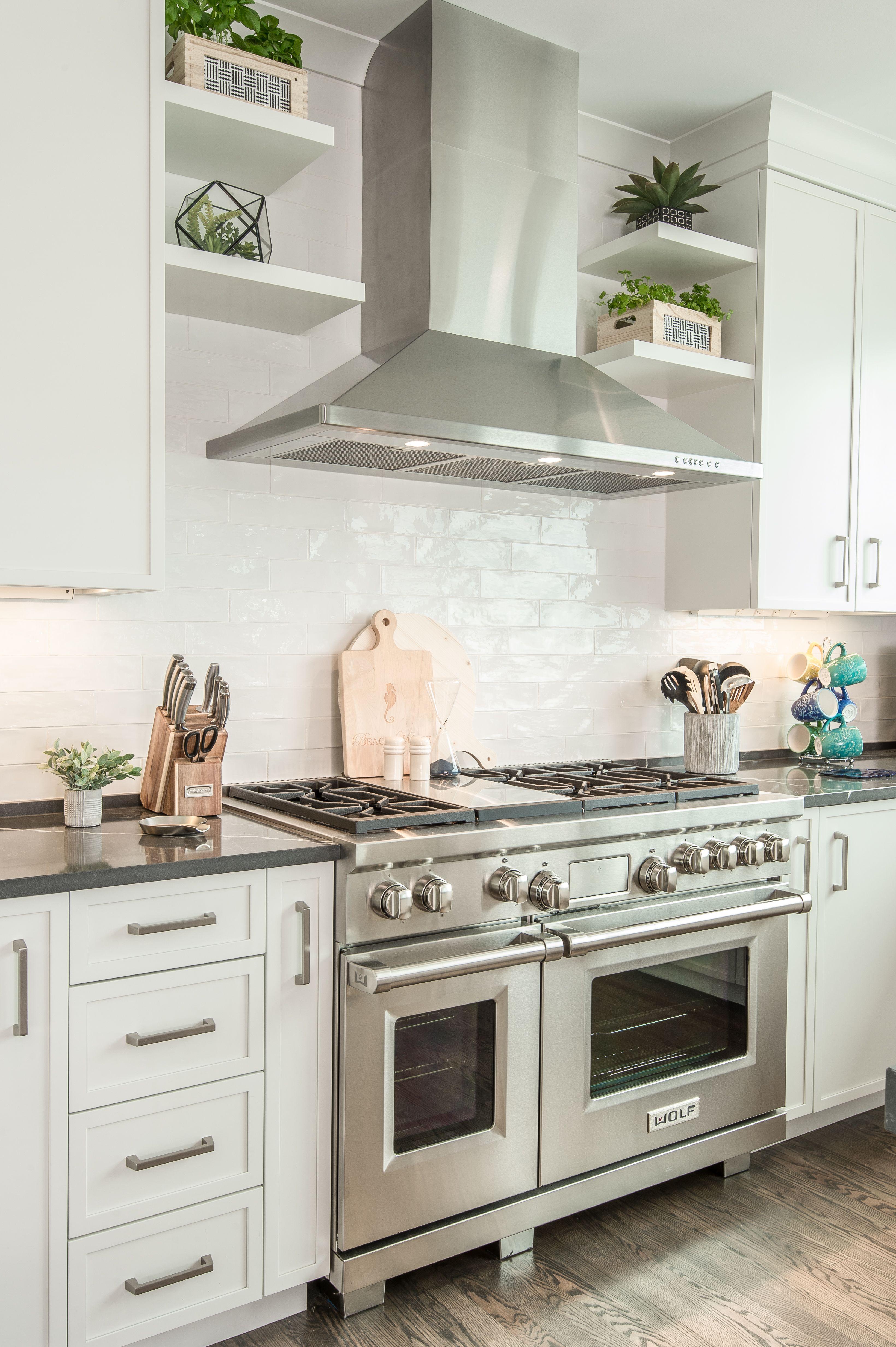 Open Shelving Range Hood Kitchen Hood Design Kitchen Design Decor Kitchen Vent