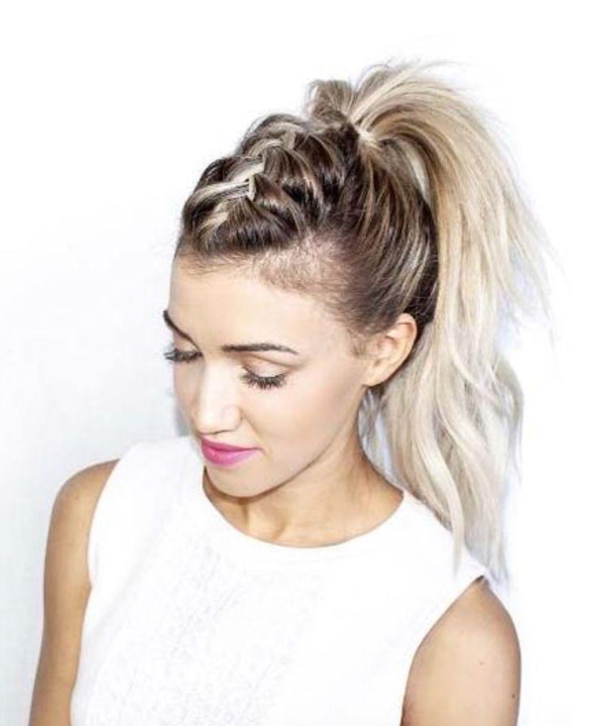 Braided mohawk pony hairspirations pinterest braided mohawk
