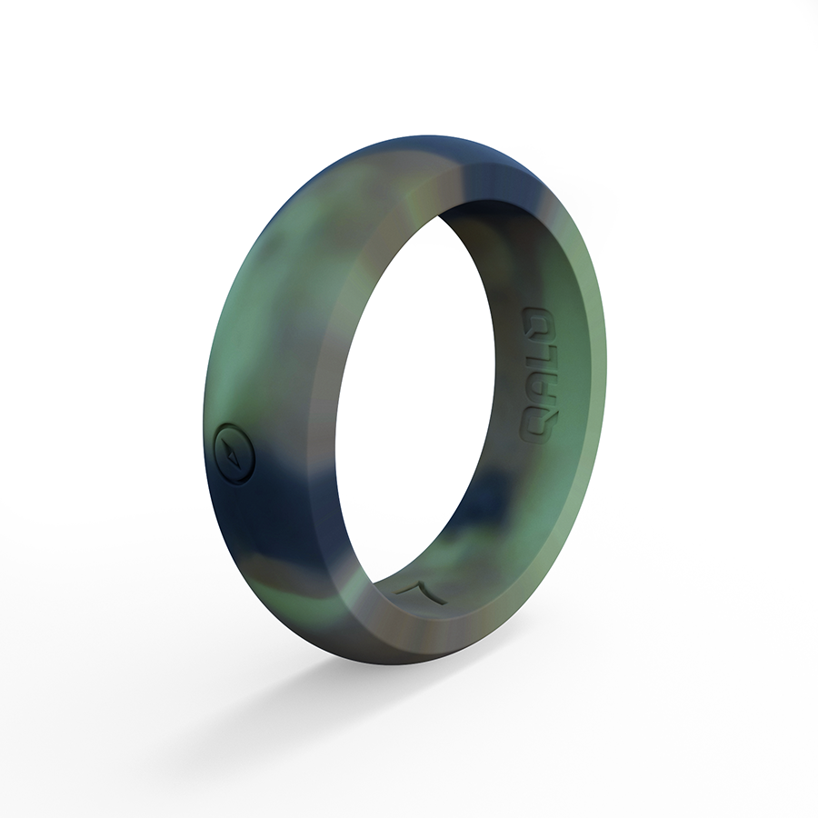 Women's Camo Classic Silicone Ring with Compass Womens