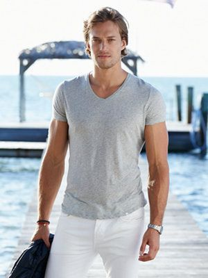 V-neck shirt dress for men fashion