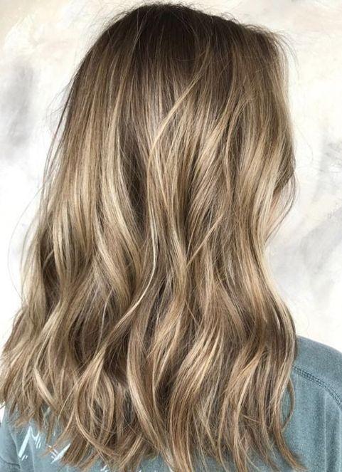 Dark Blonde Balayage Hair Color Ideas for Medium Hairstyles