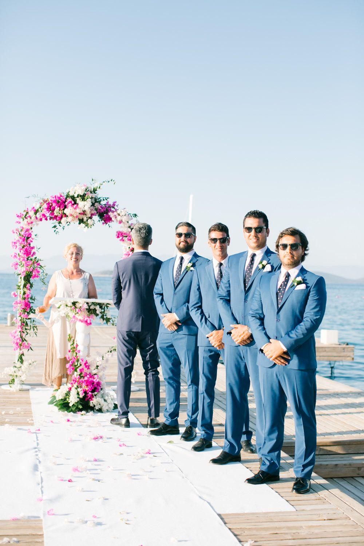 Elegant white u gold turkey destination wedding with fuchsia pink