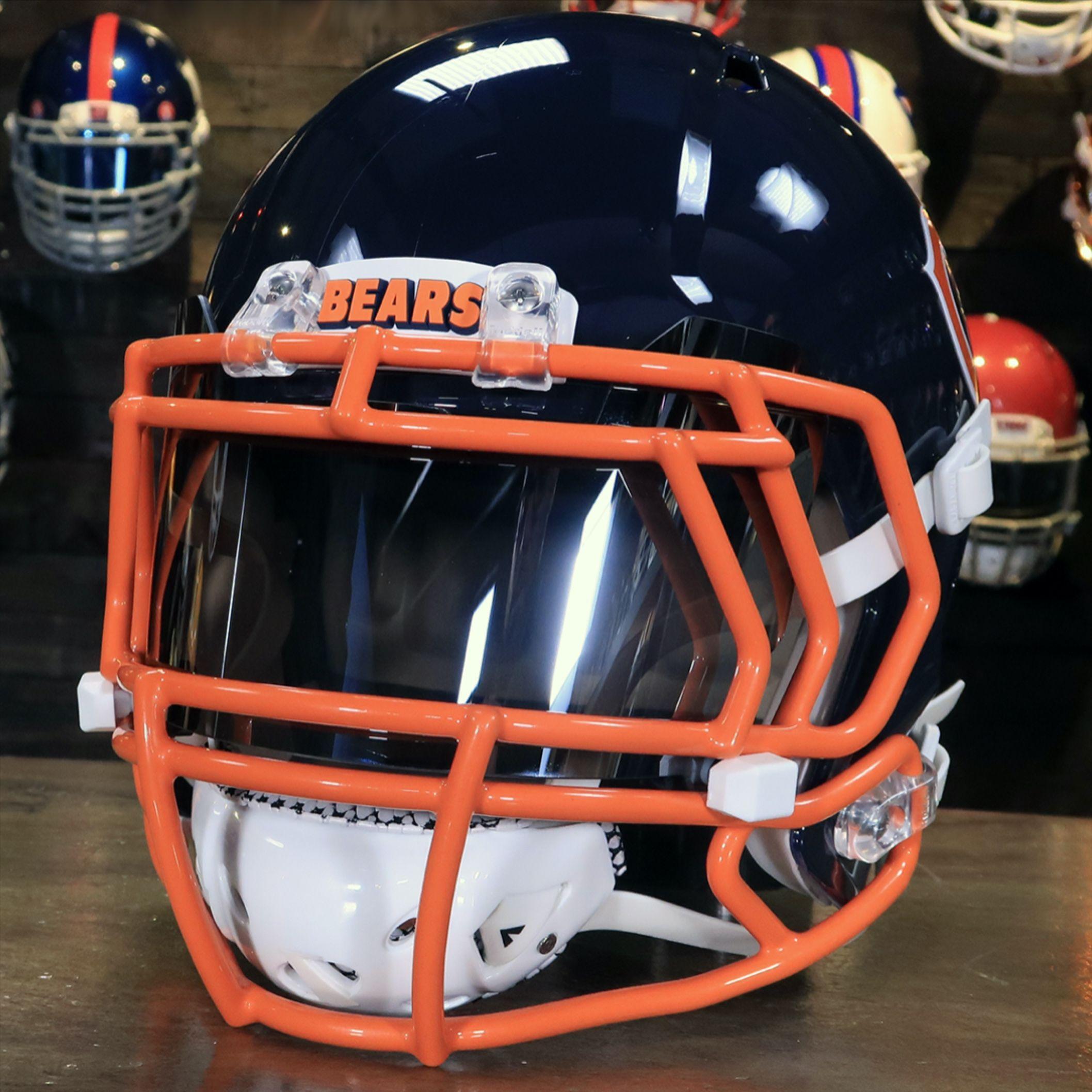 Custom Chicago Bears Collectible Helmet In 2020 Chicago Bears Helmet Football Helmets Custom Football