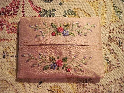Embroidered Tissue Holder 繡花小面紙套 | Flickr - Photo Sharing!