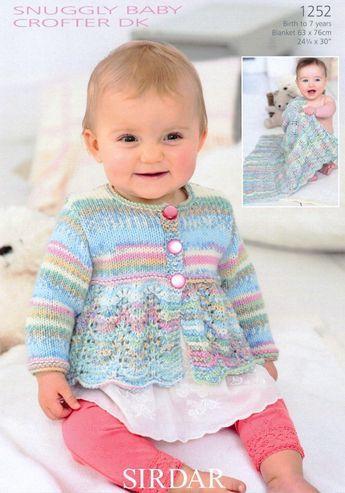 Sirdar1252 | Baby cardigan knitting pattern, Sirdar ...