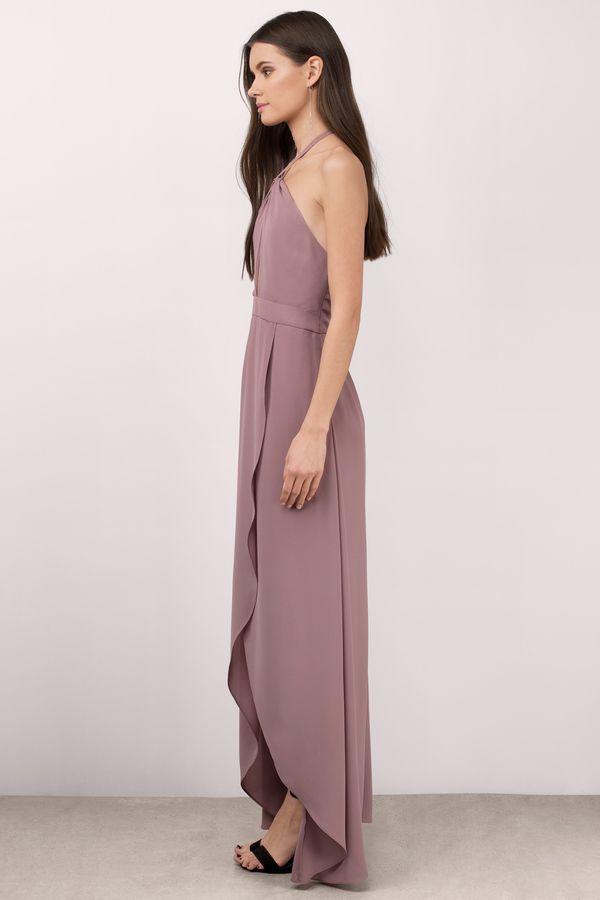 Mauve Halter Dress