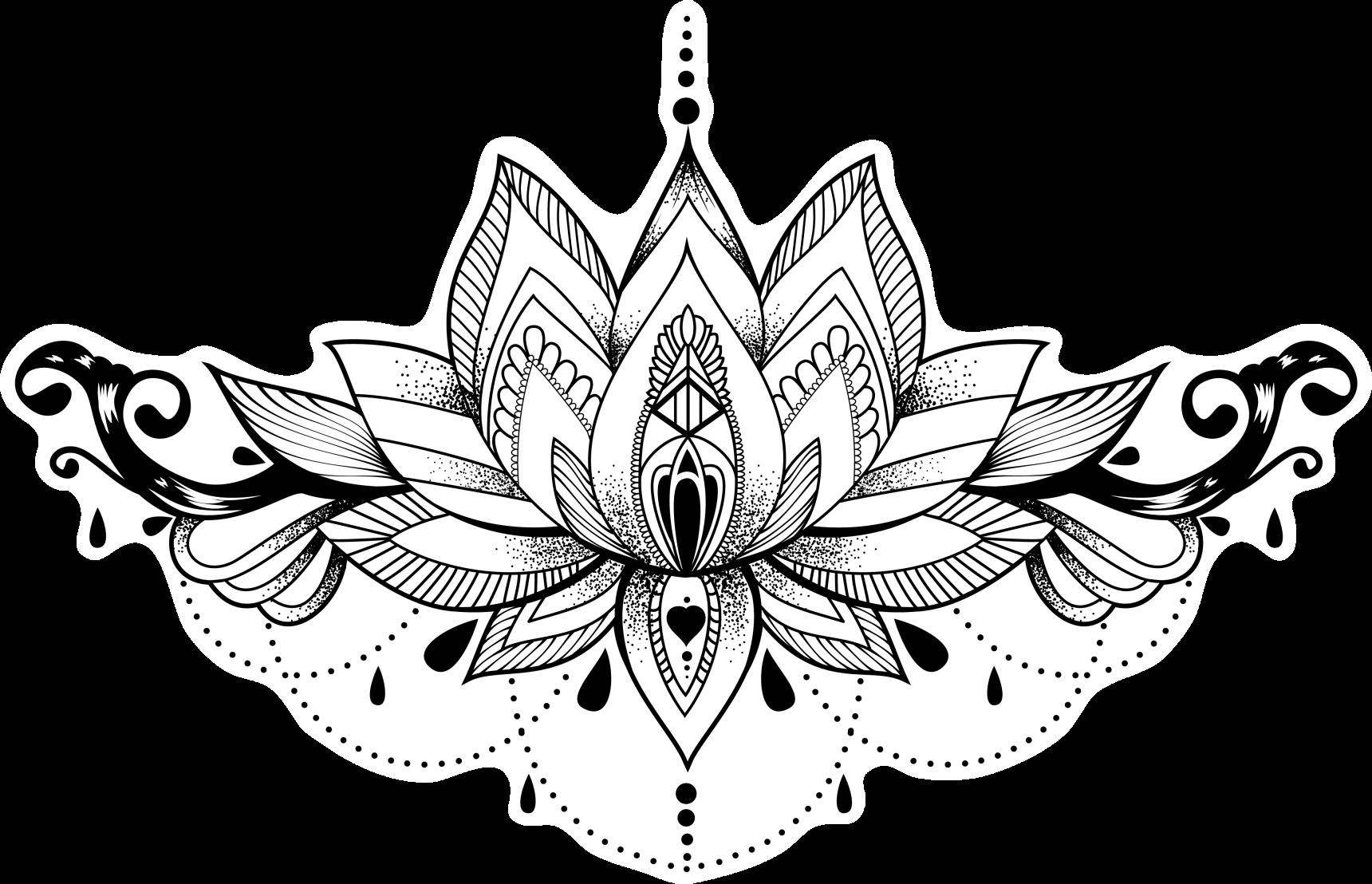 Тату с цветком лотоса: для девушек, на спине, руке ...