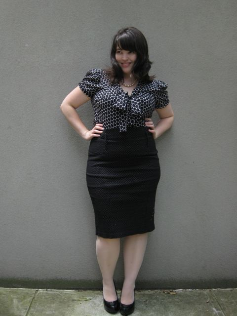 I love these outfits but sometimes (often) I look a wee bit like a Naughty Secretary in them...problematic in the ACTUAL workplace.