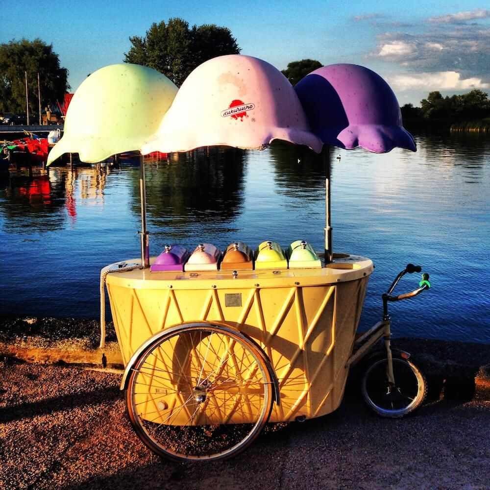 Kulinarik   Wetreat Eiscreme Wagen auf Usedom