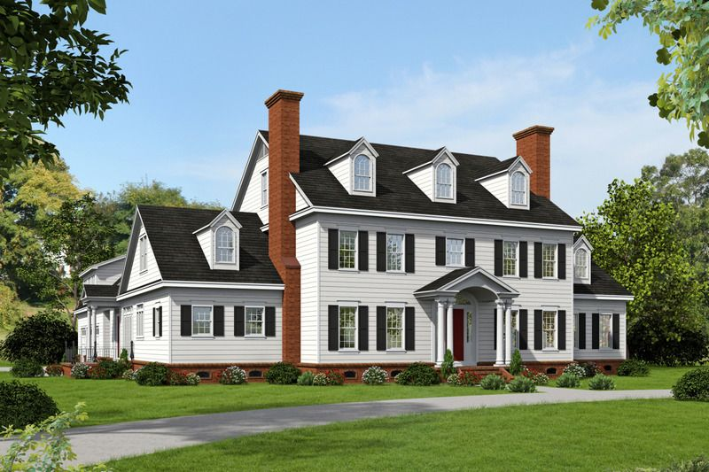 Colonial Style House Plan 6 Beds 5 5 Baths 6858 Sq Ft Plan 932 1 Colonial House Plans Colonial House Colonial Style Homes