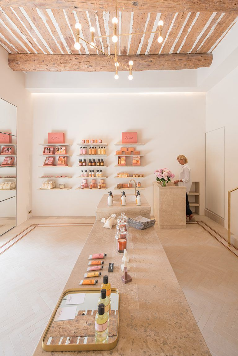 Bastide Luxury Beauty Brand Explores The Savoir Faire Of Provence Perfectly Provence In 2020 Beauty Salon Decor Boutique Decor Beauty Salon Design