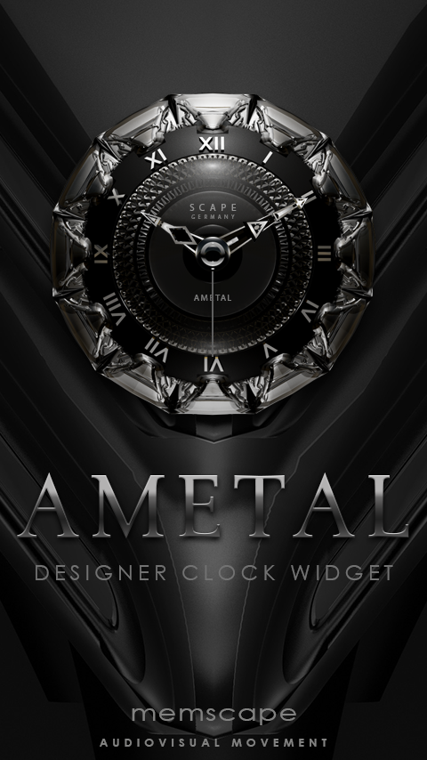 AMETAL Analog Clock Wdget displayresolution (With images