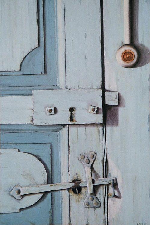 Artiste peintre Elizabeth BLAIN \u2013 Art animalier, fonds marins et - peinture porte et fenetre